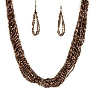BNWT- Paparazzi necklace in twisted copper